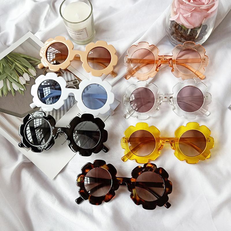خمر الاطفال نظارات الطفل النظارات الشمس جولة زهرة gafas الطفل الأطفال uv400 الرياضة نظارات الفتيات الفتيان الأزياء نظارات
