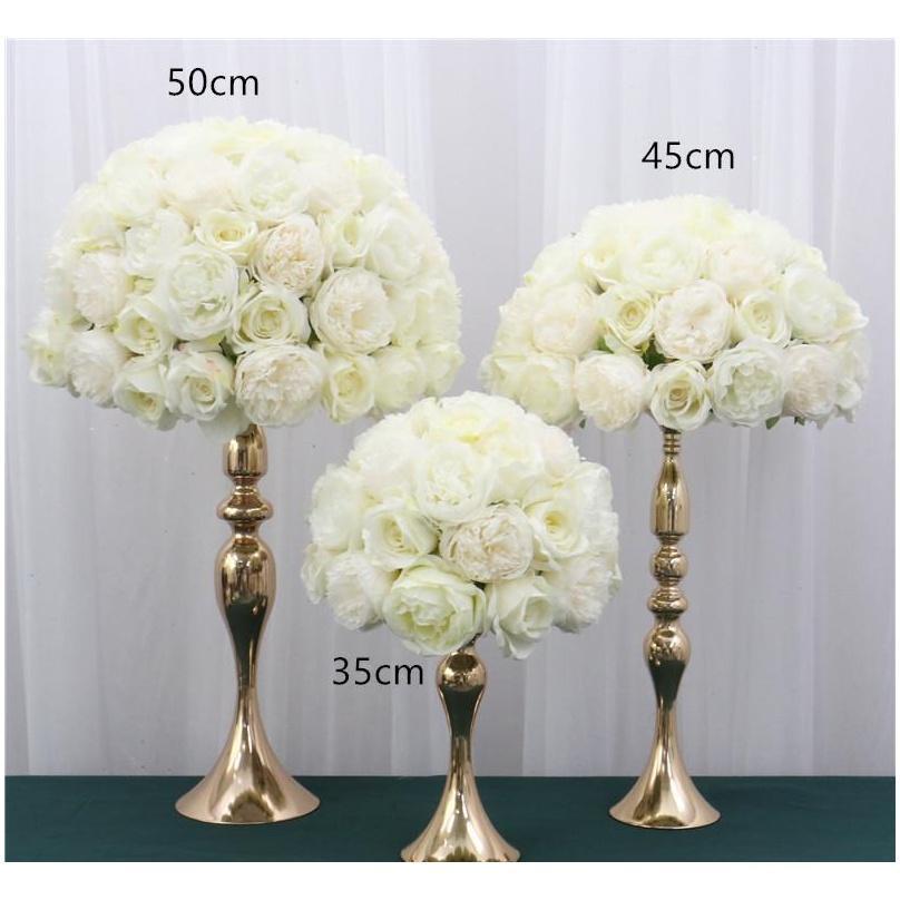 원래 디자인 결혼식 아치 장식 꽃 행 정렬 인공 테이블 센터 피스 꽃 공 옥수수 bbyxbo bde_luck
