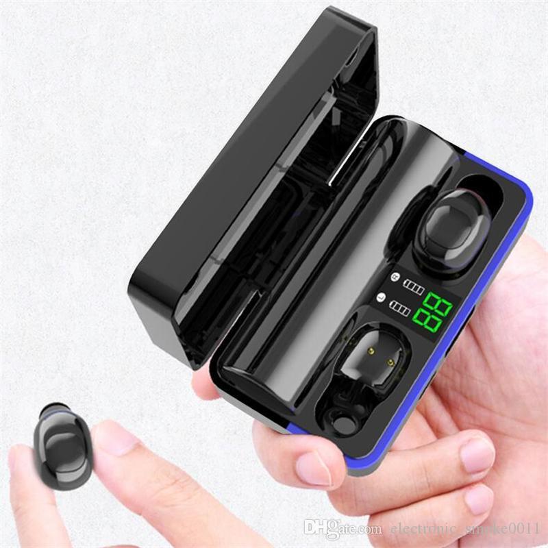 DHL Free W10 Fone de ouvido LED Flicker 6D Sound Headset Sem Fio Bluetooth V5.0 Fones de ouvido com 2600mAh Power Bank para telefone inteligente