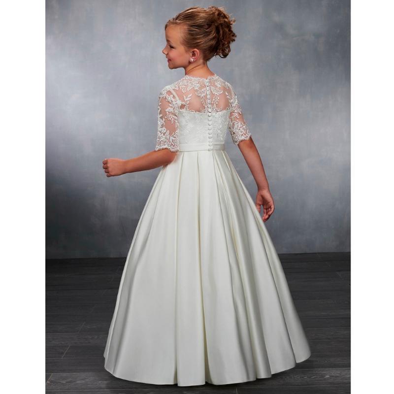 Платья девушки поступления принцессы кружевные аппликации шаровые платья цветок платье для девочки для свадьбы первые причастия девушки