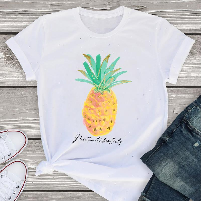 Women Graphic Sweet Short Sleeve Pineapple Clothes Print Summer Lady Womens Clothing Tops T Shirt Tees Female T Shirt