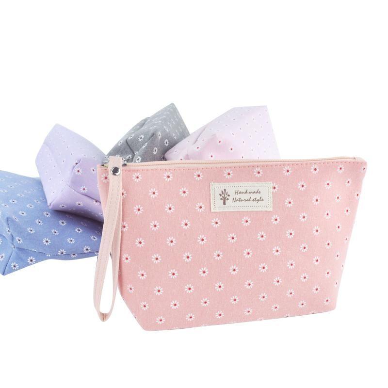 Storage Bags Arrival Vintage Flower Floral Pencil Pen Bag Cosmetic Makeup Case Purse Portable Canvas Cute Hand Carry