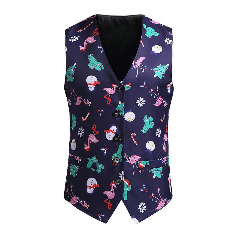 Men's evening dress vest, Christmas party sleeveless tank top, XXL wedding dress, new in 2020