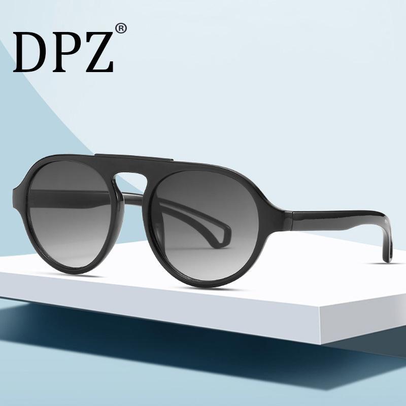 DPZ 2021 Moda Redondo Gafas de sol Mujeres Sexy Brand Designer Gradient Lente Cat Eye Aviation Gafas de sol Gafas Shade UV400 de Sol