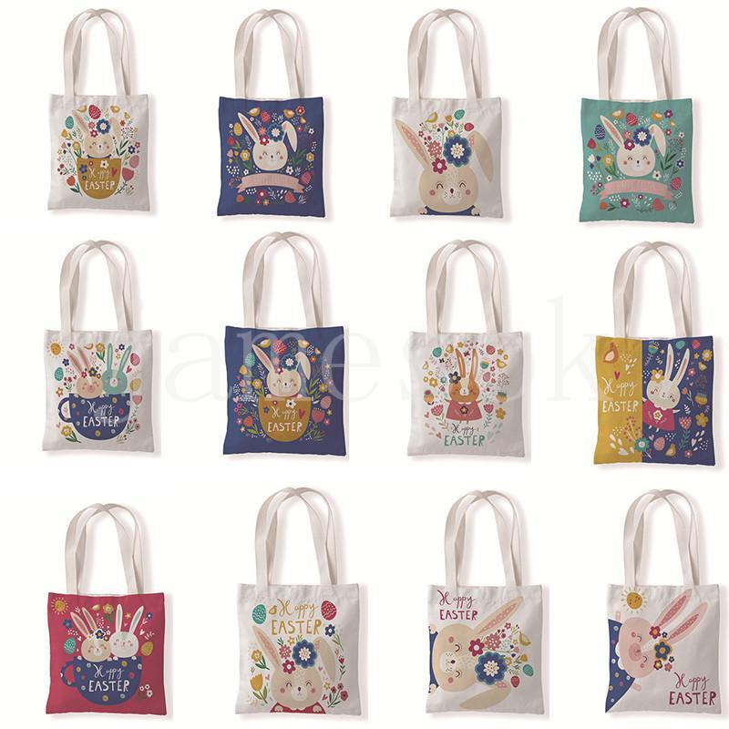 Пасхальный кролик холст сумка плеча студент покупки сумочка досуг монеты солнечные сумки мешок для хранения все матч женская сумка DB494