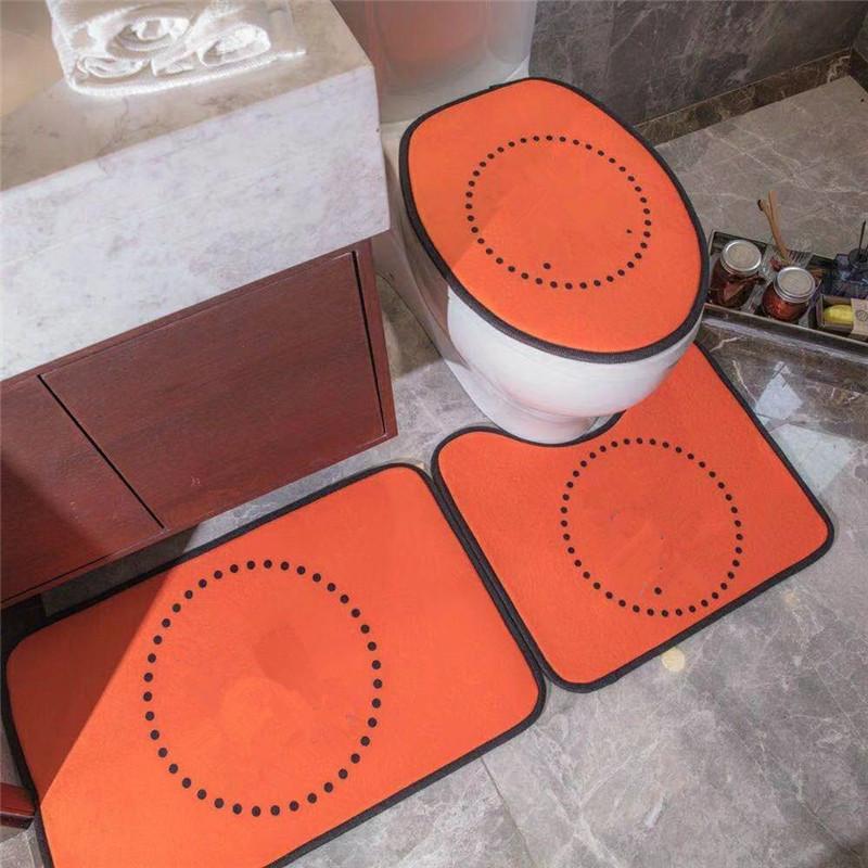 Yeni Gelenler 3 ADET Banyo Paspasları Kaymaz Mektup Desen Tuvalet Halı Kaymaz Evrensel Yüksek Kaliteli Klozet Kapağı