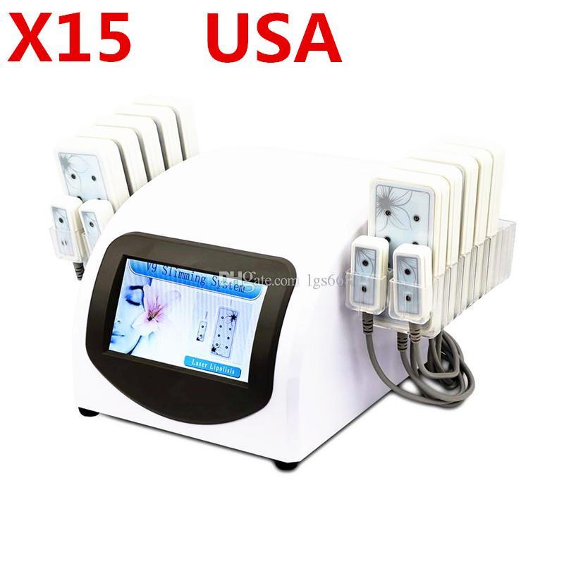 X15 뜨거운 판매 휴대용 가정용 Lipolaser 전문 슬리밍 기계 10 대형 패드 4 작은 패드 Lipolaser 슬리밍 아름다움 장비