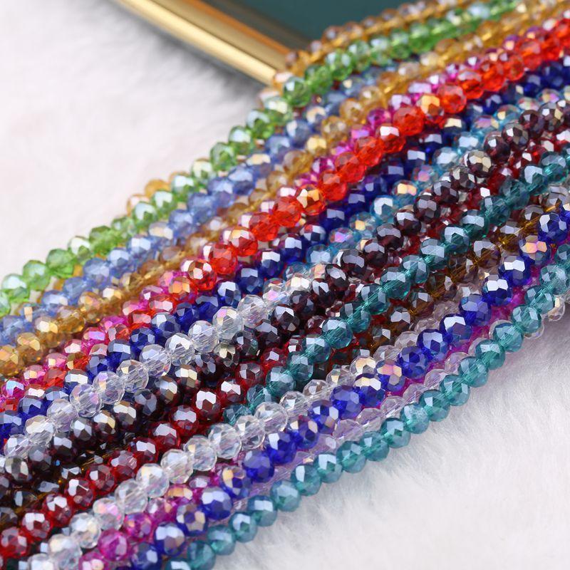 AB متعدد الألوان Abacus كريستال زجاج فضفاض الخرز الأوجه قلادة سوار الألوان والمجوهرات صنع 17 U2