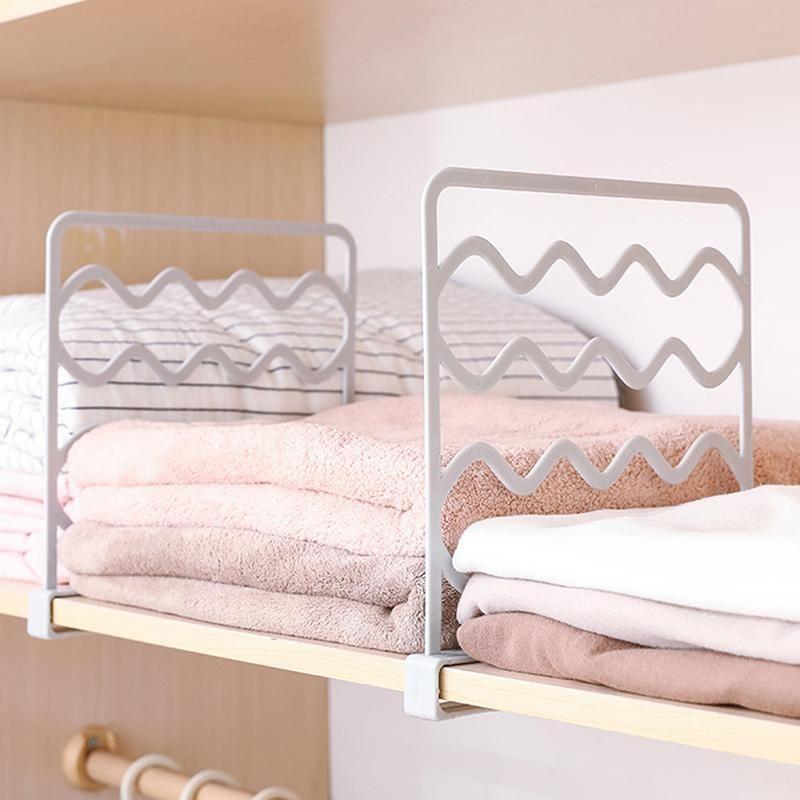Hangers & Racks Closet Shelf Dividers Wardrobe Partition Shelves Divider Clothes Wire Shelving