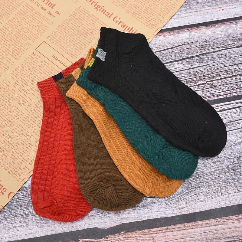Женщины Удобные полосовые хлопковые носки женские тапочки короткие лодыжки носки высокого качества мода случайный цвет