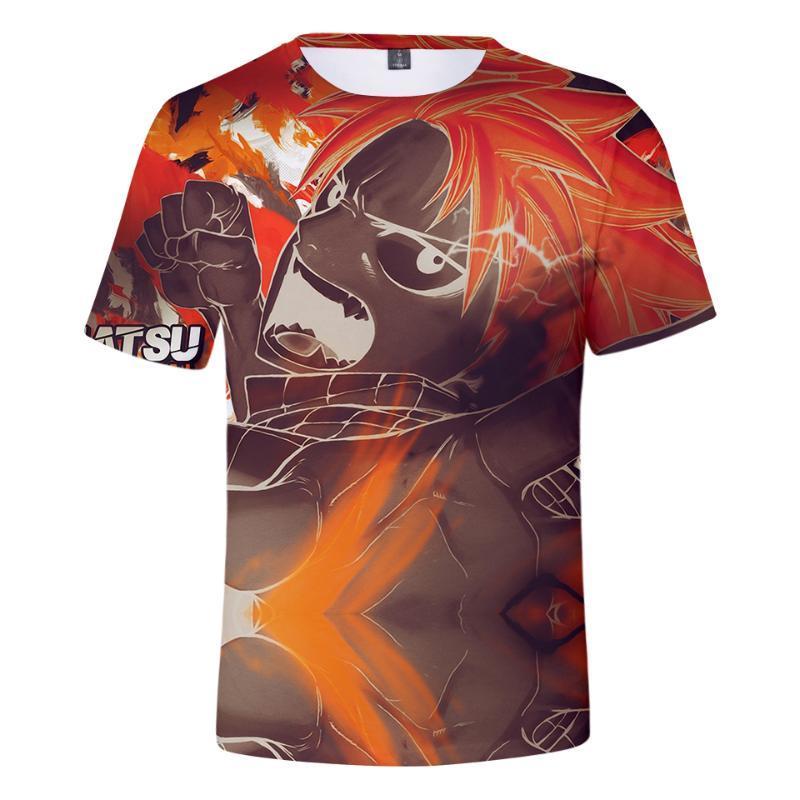 Erkek T-Shirt T Gömlek Tops Peri Kuyruk 3D T-shirt Erkekler / Kadınlar Moda Hip Hop Harajuku Streetwear Tees Baskı Kısa Kollu