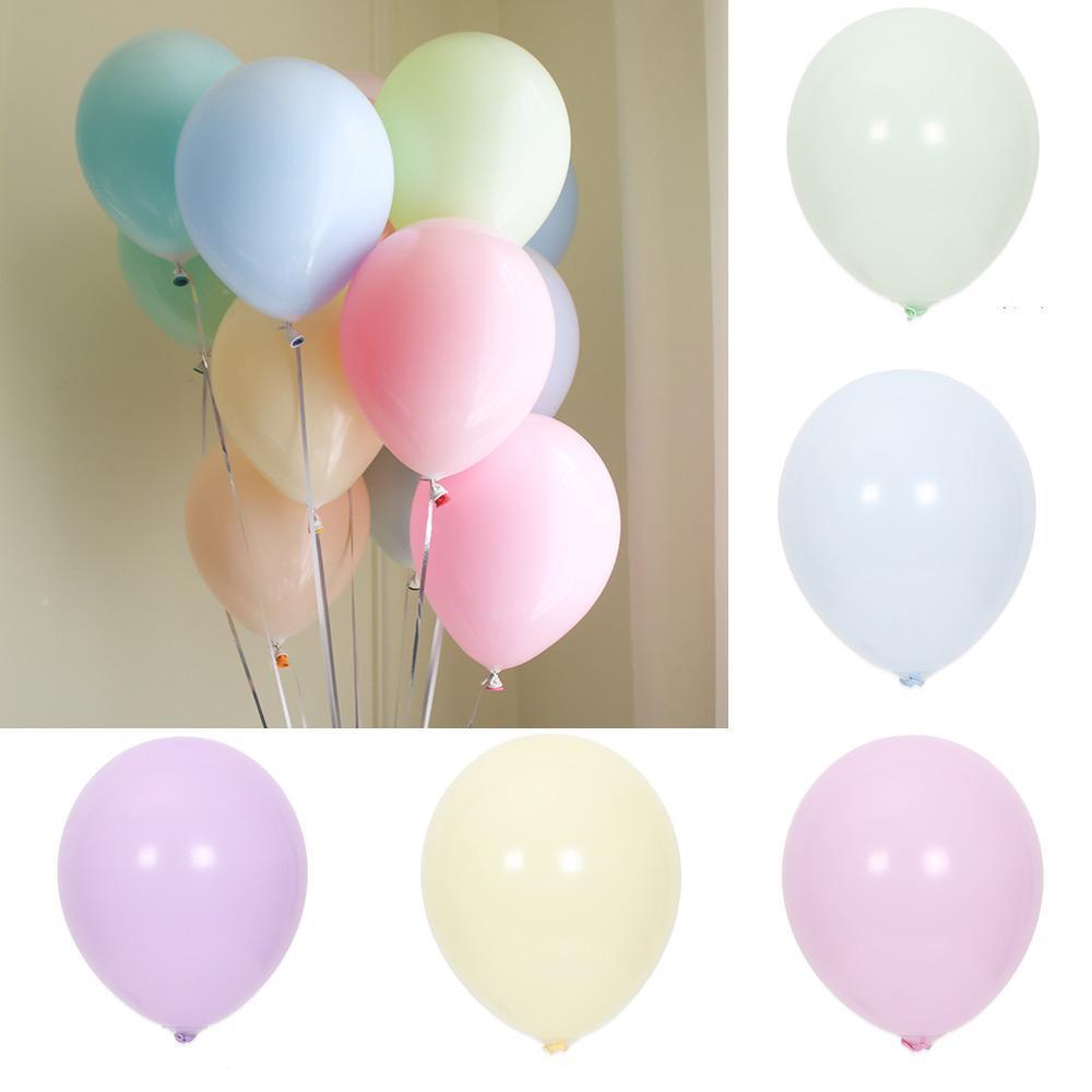 100 unids 12 pulgadas macarrón globo bodas balóges redondo género revela princesa cumpleaños fiesta decoraciones niños adulto mariage l0220