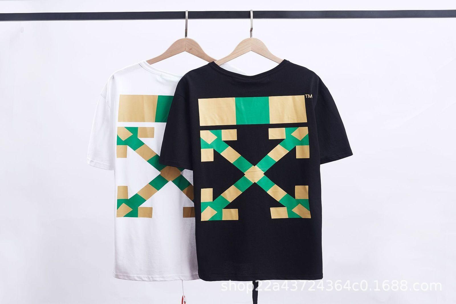 2021 Primavera verano nueva marca de moda fuera de Sudáfrica Classic arrow Camiseta de longitud media de manga corta y de manga corta