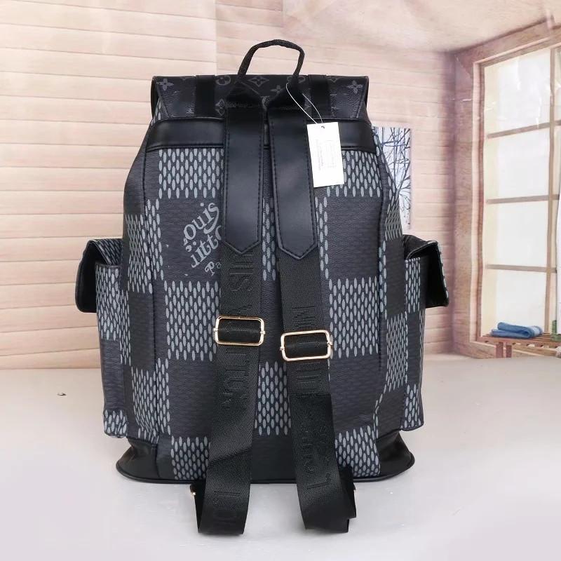 Kafes Deri Çift Erkek Omuz Çantaları Üst Marka Grils Sırt Çantası Mükemmel Kalite Çocuklar Okul Çantaları Yeni Trend Siyah Kahverengi