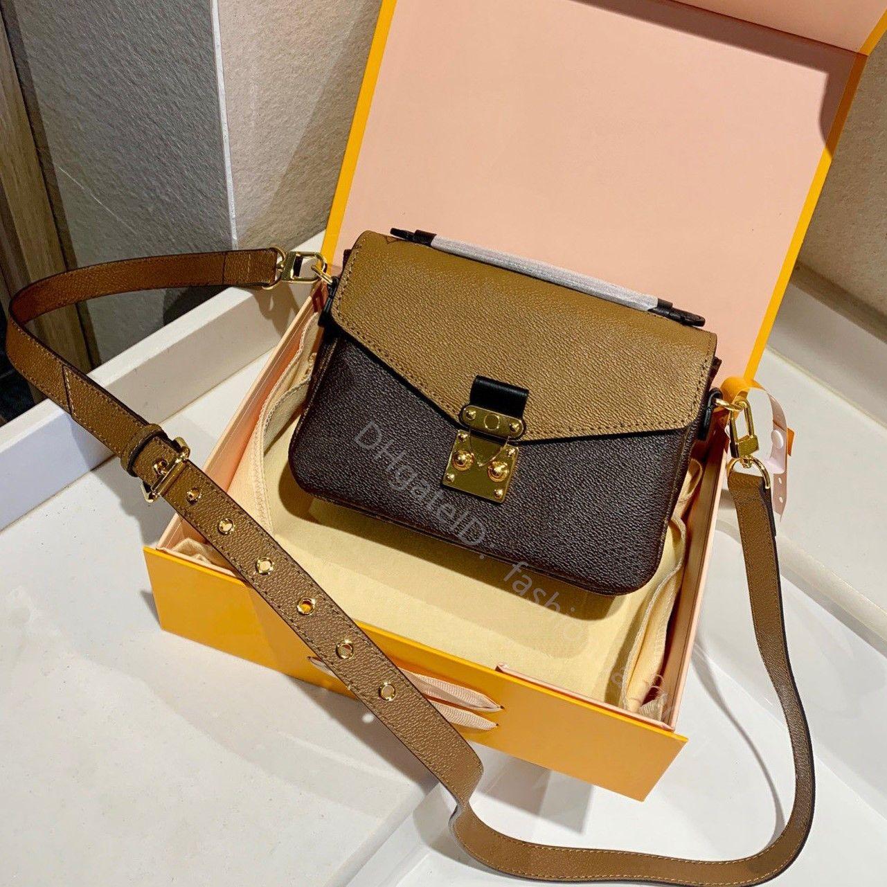 2021 SS عالية الجودة سيدة الأزياء حقيبة مصمم الفاخرة حقائب أنيقة والمنخفضة مفتاح مظهر تصميم ميتيس حقيبة الكتف حقائب الكتف الصليب الجسم