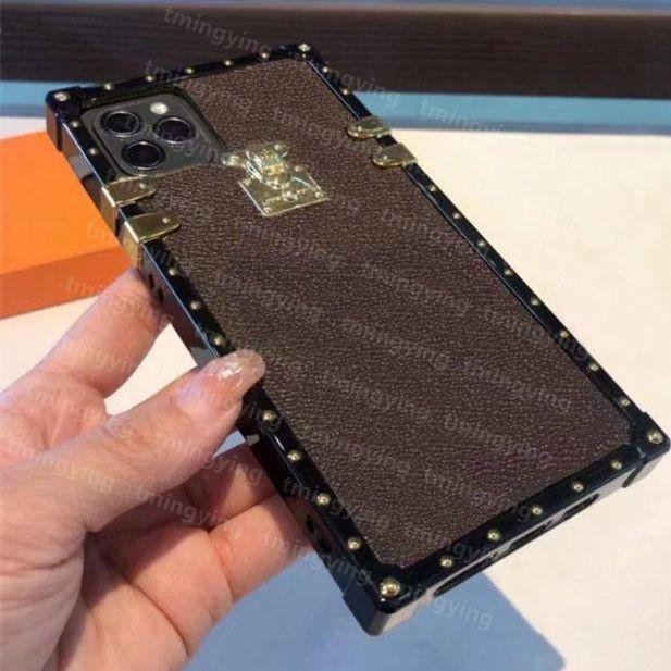 Top Moda Telefono Custodie per iPhone 12 Mini 11 Pro Max XS XR X 8 7 Plus Luxury PU Cuoio di stampa in pelle PU Cover Iphone12Promax Designer Case