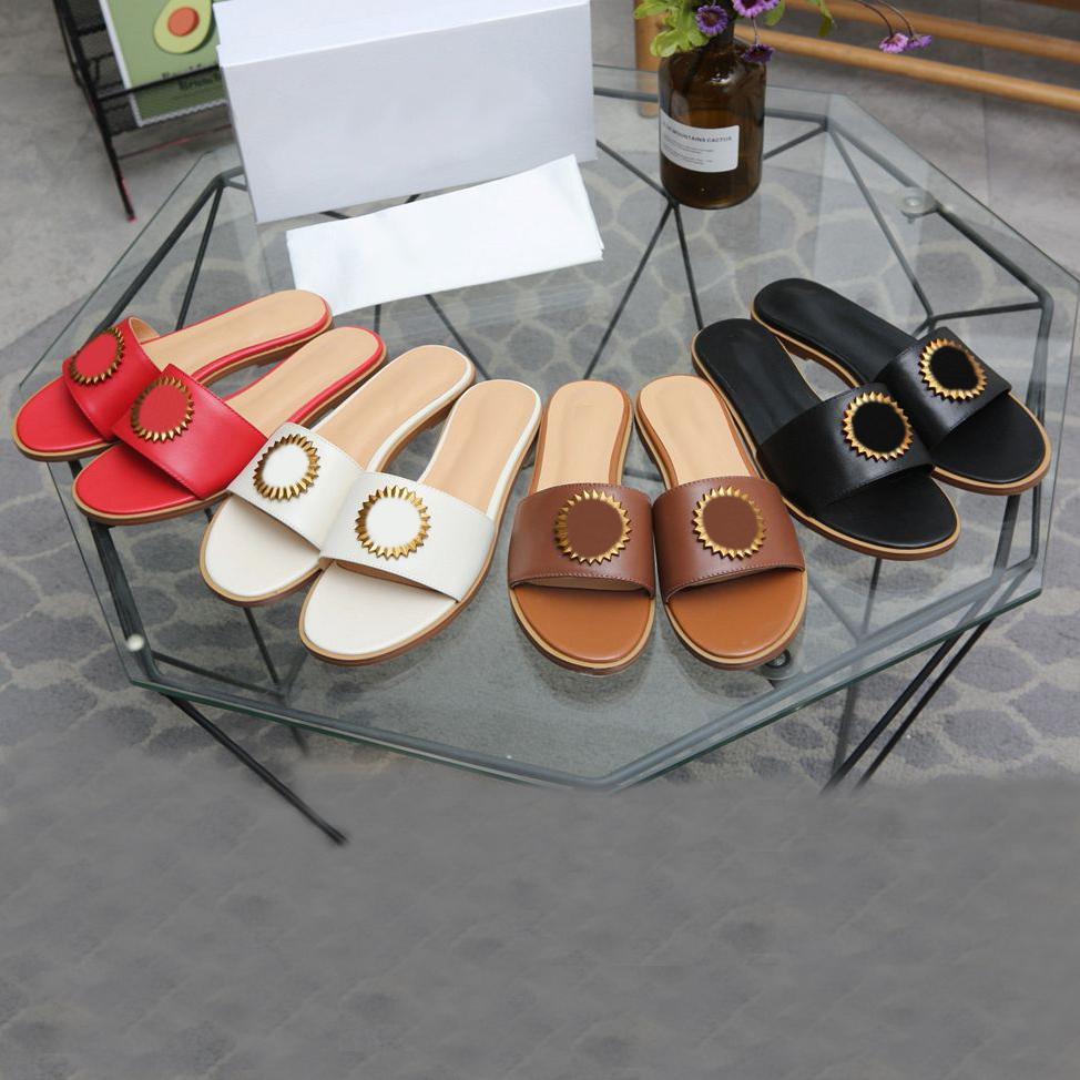 2021 Kadın Terlik Sandalet Slaytlar Klasik Düz Sandal Kadın Terlik Slayt Yaz Bayan Karikatür Ayakkabı Deri Otel Banyo Moda Bayanlar Ayakkabı Büyük Boy 35-45