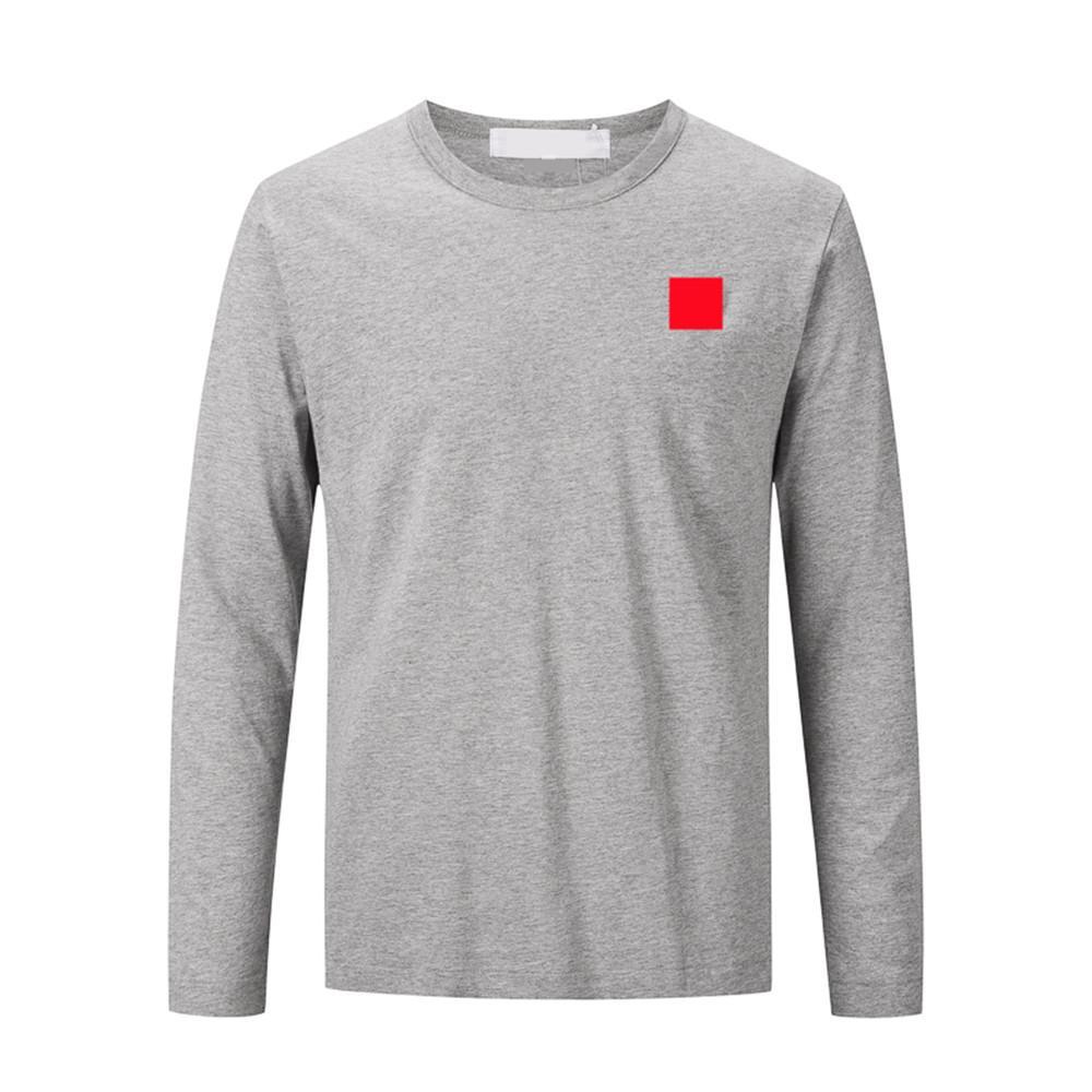 패션 남자 티셔츠 긴 소매 면화 고품질 긴 소매 스웨터 붉은 마음 힙합 남자 streetwear 인과 지키기 망 남성 의류 탑 티
