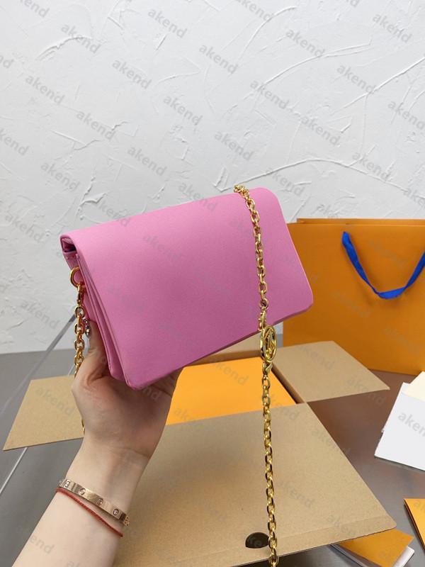 2021 أعلى جودة جلد طبيعي مصممين أكياس سلسلة المرأة النايلون حقيبة الكتف pochette كوسين حمل crossbody l حقائب الأزياء محفظة حقيبة يد