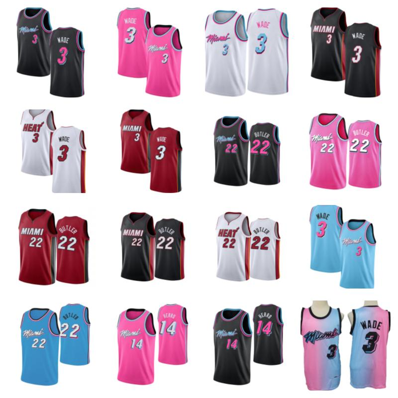Basketball Jersey3 Dwyane Wade22 Jimmy Butler14 Tyler HerroBasketball Jersey