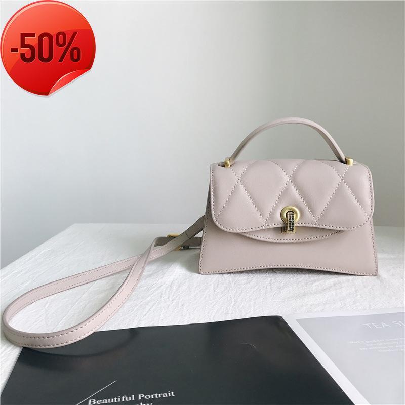 Evening Bags Small Women Fashion Messenger 2021 Genuine Leather Crossbody For Ladies Drill Lock Diamond Shoulder Bag Bolsas