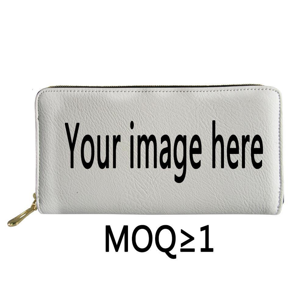 Design Fashion Lady Borser Borsa PU con cerniera con cerniera lunga multi cartetto tascabile