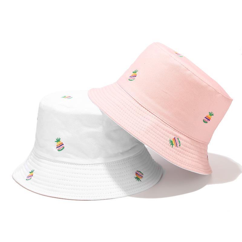 Yaz Döner Kova Şapkalar Kadın Erkek Sokak Baskılı Hip Hop Balıkçı Şapka Panama Bob Şapka