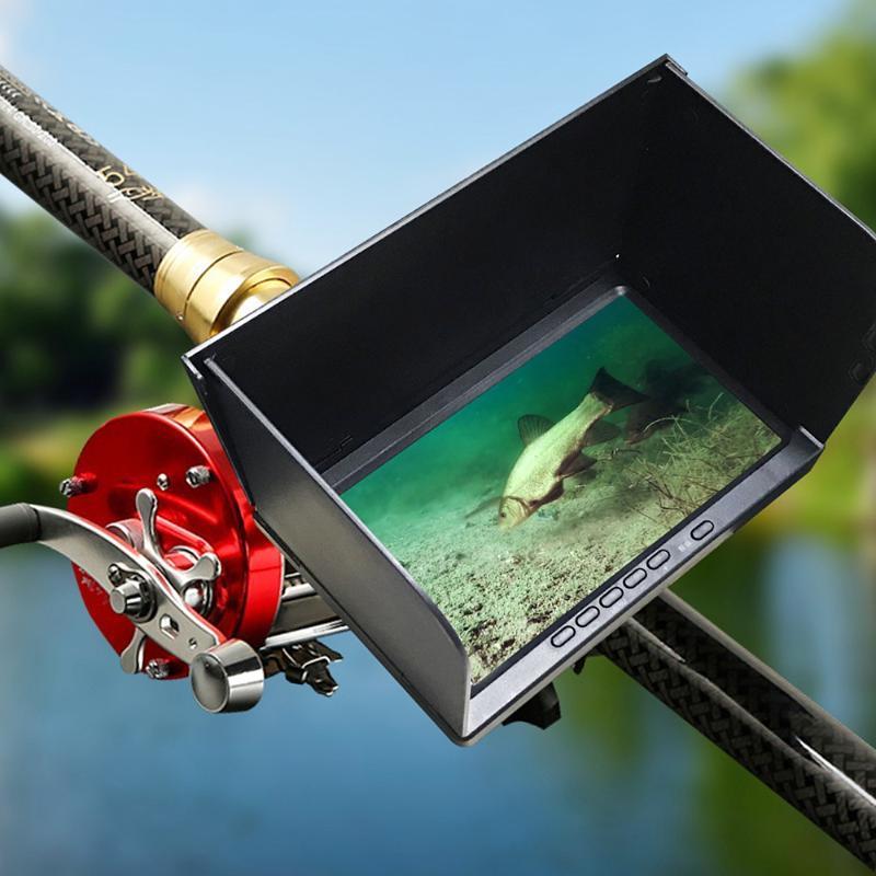 Fischfinder 7inch Monitor 1000TVL 12 Infrarot-LED Unterwasser-Fischereikamera 180 Grad
