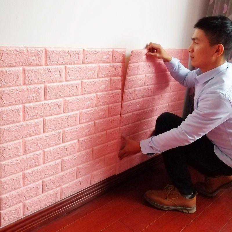 벽지 홈 장식 벽지 거실 3D 벽지 셀프 접착제 양각 방수 방음 현대 벽 스티커 99 V2