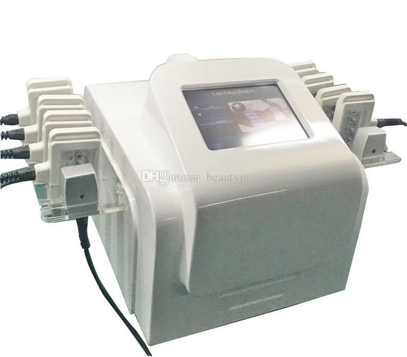 Máquina de emagrecimento do laser do laser de 635nm-650nm 10 pads Lipolaser laser máquina de laser I máquina laser lipo para remoção de celulite