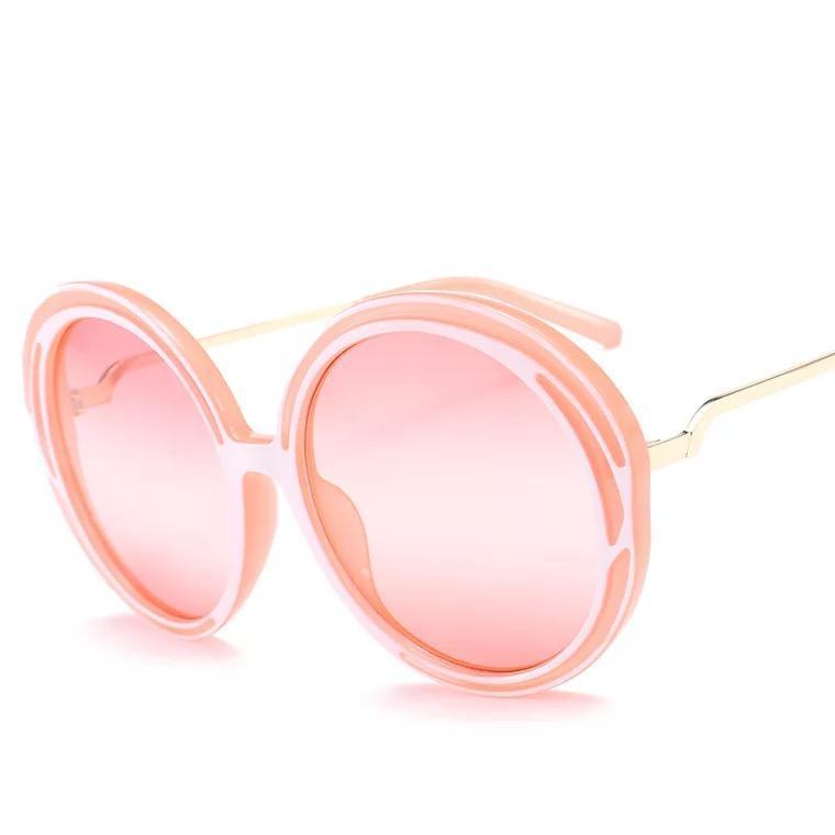 Sonnenbrille Inkassemode Runde Rahmen Frauen Übergroße Eyewear Mode Design Big Jww368
