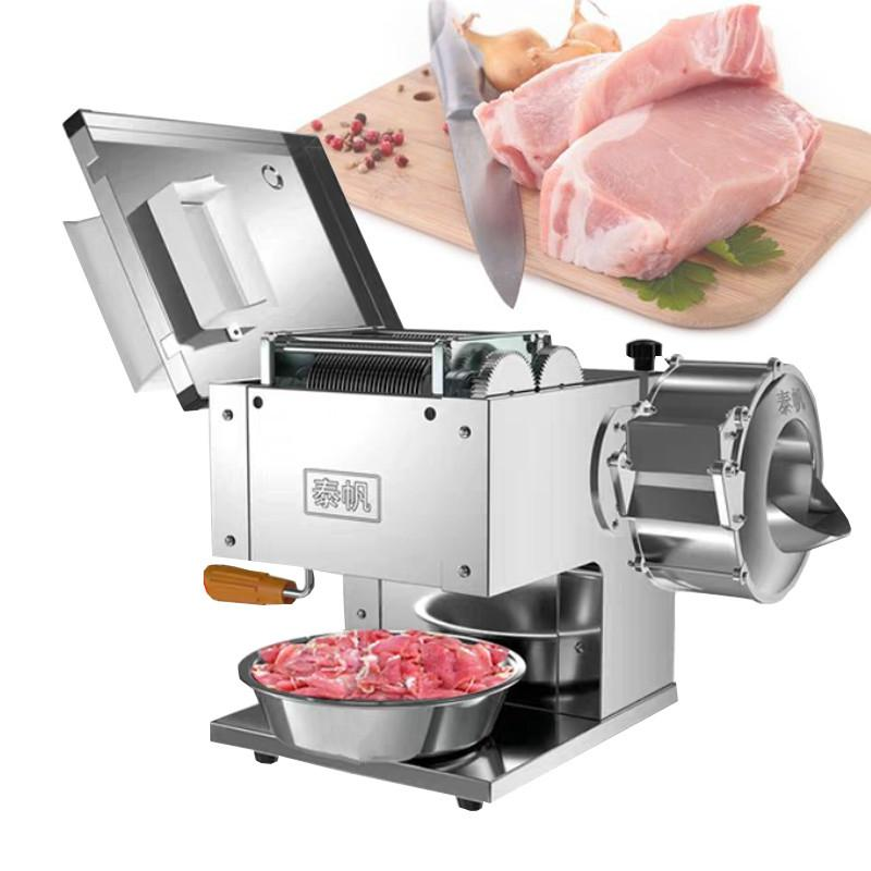 850W Multi-function Meat Cutter Vegetable Meat Slicer High Efficiency Pork Beef Fish Meat Cutting Machine