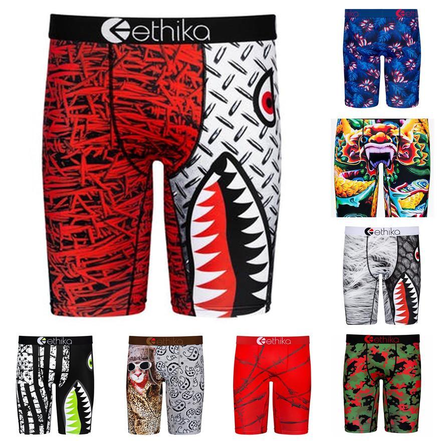 Men Boxer Sport Technical Underwear Quick Dry Briefs Boxers Graffiti Printing Shorts Leggings Beach Swim Trunks Pants