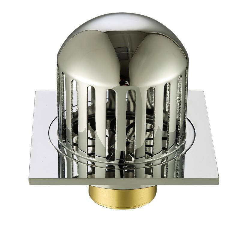 Outros banheiros Supplies Balcão de cobre Balcão Telhado Dreno Ao Ar Livre Bell-Shaped Grande Deslocamento Anti-Bloqueio de Vazamento Guarda Filtro R