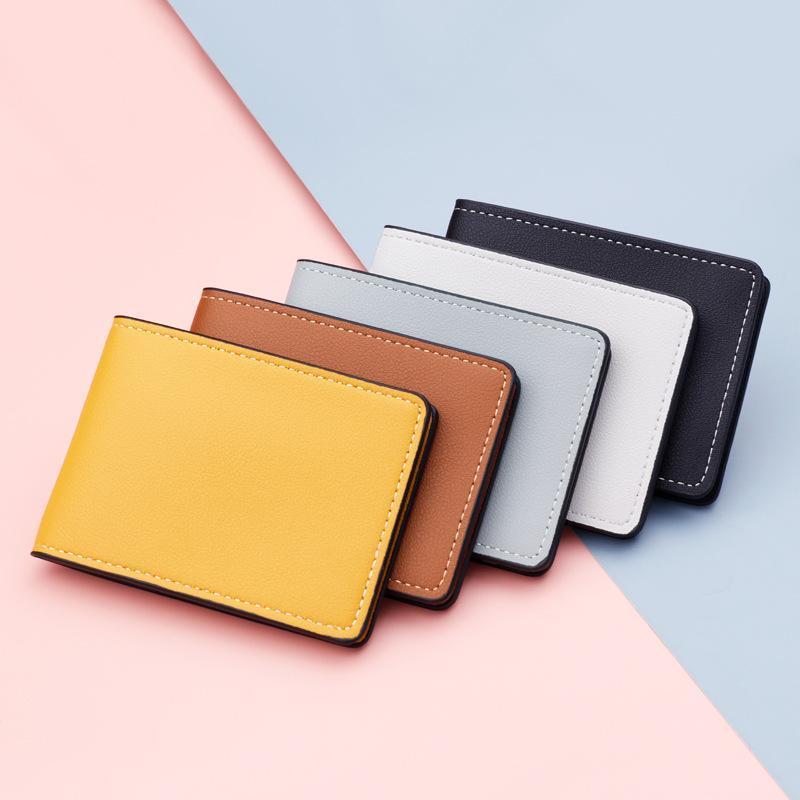 Porta carte Ultra Thin Auto Driver BACK BAG ARRIFICIALE PU su coperchio per auto Driving Documenti ID Portafoglio portafoglio portafoglio