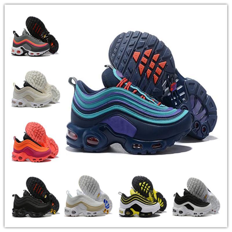 جودة عالية قبالة 97 زائد tn الرجال النساء الاحذية og أنثى مصمم الرياضة 97s المدربين الأبيض الأسود رمادي أحذية رياضية