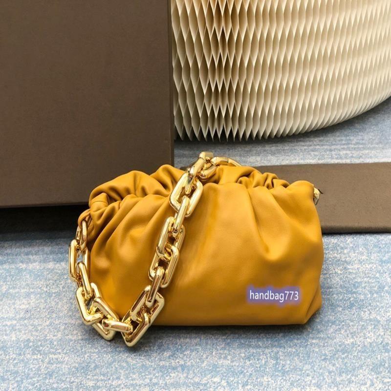 Bolso de cuero suave cuero femenino hoblo cadena bolsa de cadena real cuero bolsa de cuero axilería mano bolso embrague moda mujer drtbi