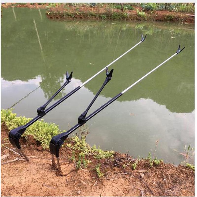 Barra de pescado soporte de soporte ángulo de ángulo de pesca ajustable soporte M M Herramienta de pesca telescópica Rodilla de mano