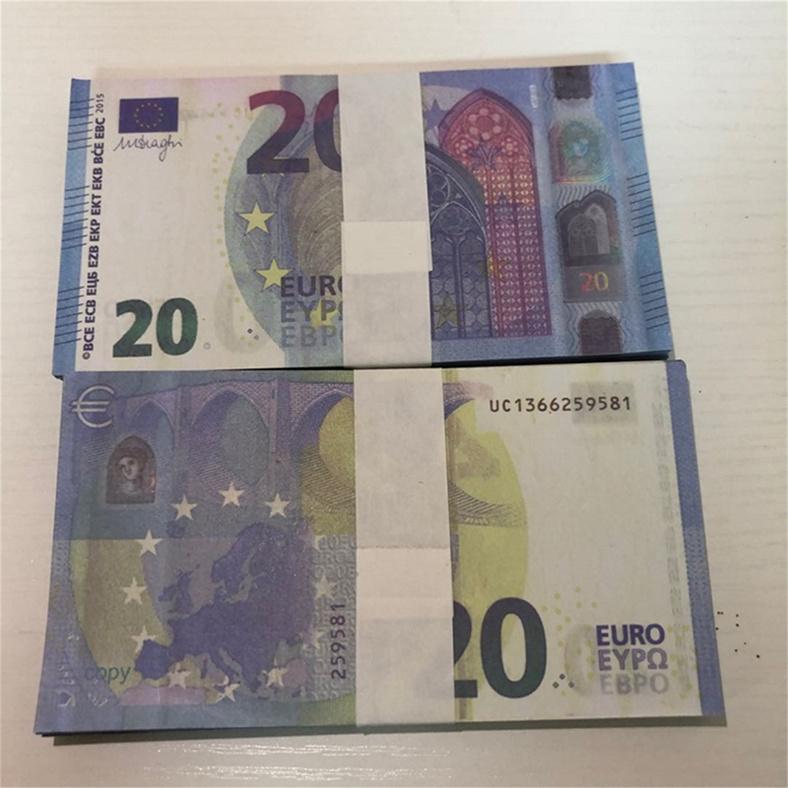 Realistische Pretend Requisiten Euro 20 bar Atmosphäre Bühne Partei Film und TV Shooting Requisiten Faux Billet Prop Toy Counterfeit Le20-053