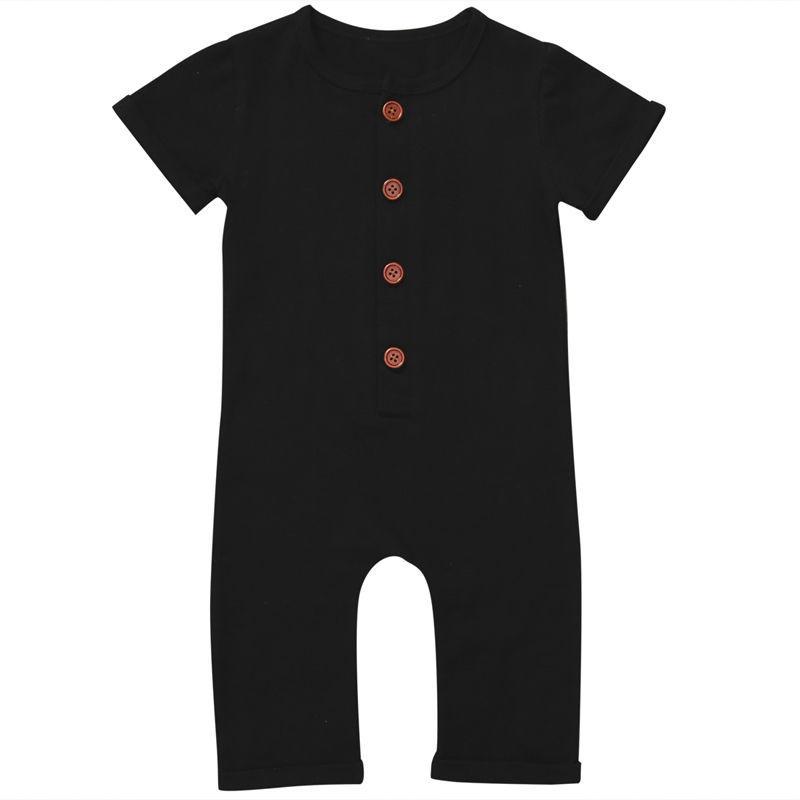 Kleinkinder Neugeborenes Kleinkind Baby Junge Mädchen Kleidung Sommer Frühling Strampler Spielanzug Casual Kurzarm Kleidung Solide Outfits 0-24M