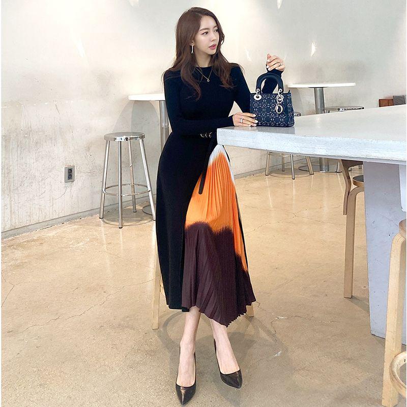 Kıyılmış örme veya tığ işi büyük salıncak kazak elbisesi kadın bel kollu elbiseler vh9i