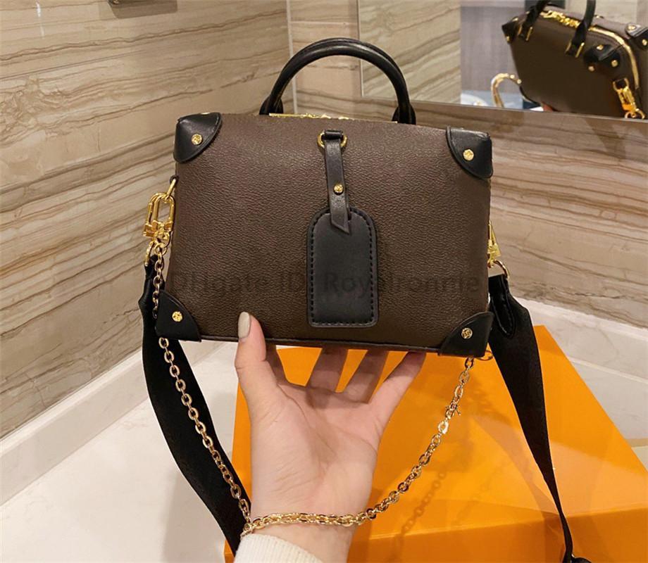 Classic Luxurys Designers Mode Bandbody Sac Lettre Sacs à main Femmes Haute Qualité 2021 Nouveau sac à bandoulière ImpriméTrime Morceaux Chaînes Boîte à chaînes