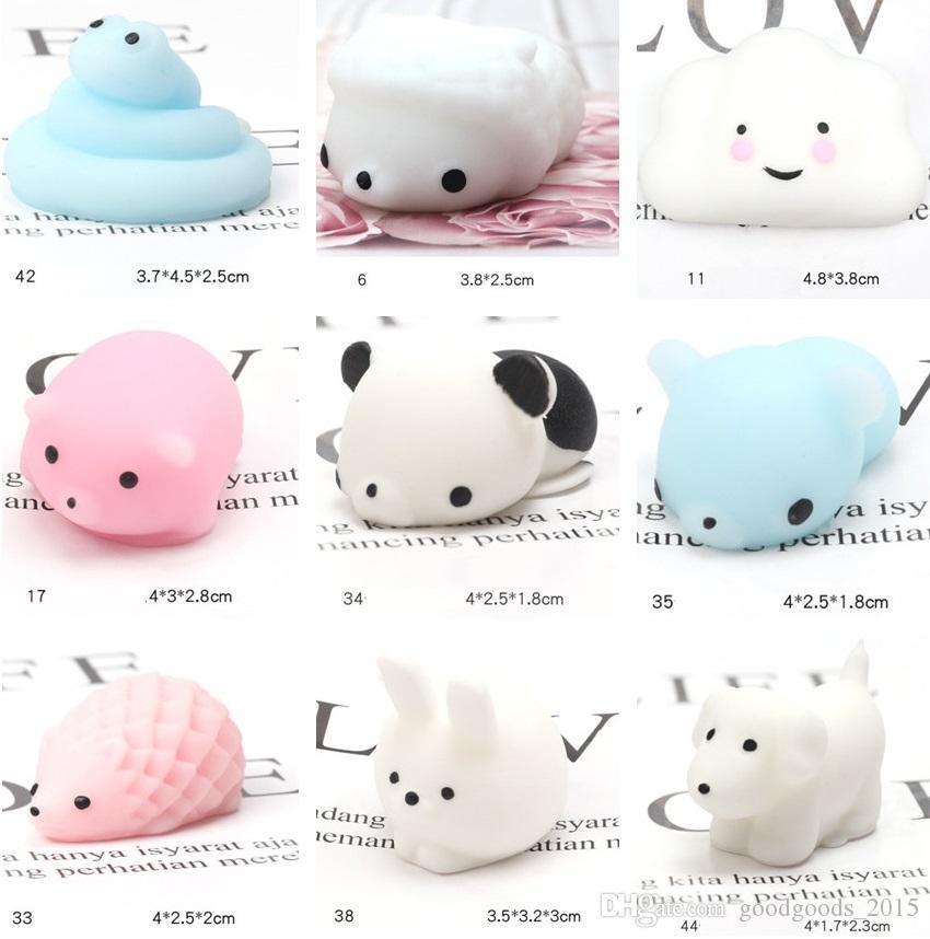 미국 주식 Squishy Min 색 변경 귀여운 고양이 antistress squishy 공짜리짜리 찌비 상승에 대한 불필요한 부드러운 끈적 끈적한 스트레스 구호 재미있는 선물 장난감