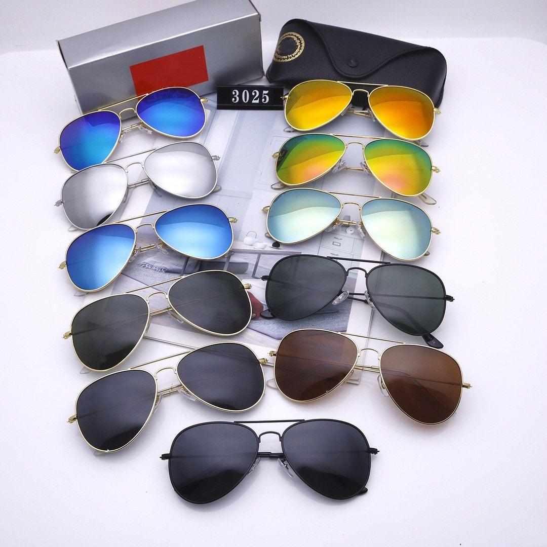 Lunettes de soleil Pilote de luxe Mens femmes Femmes Mode classique Rétro Polarized Eyewear Top Qualité UV400 Verres de conduite avec boîte Vente en gros