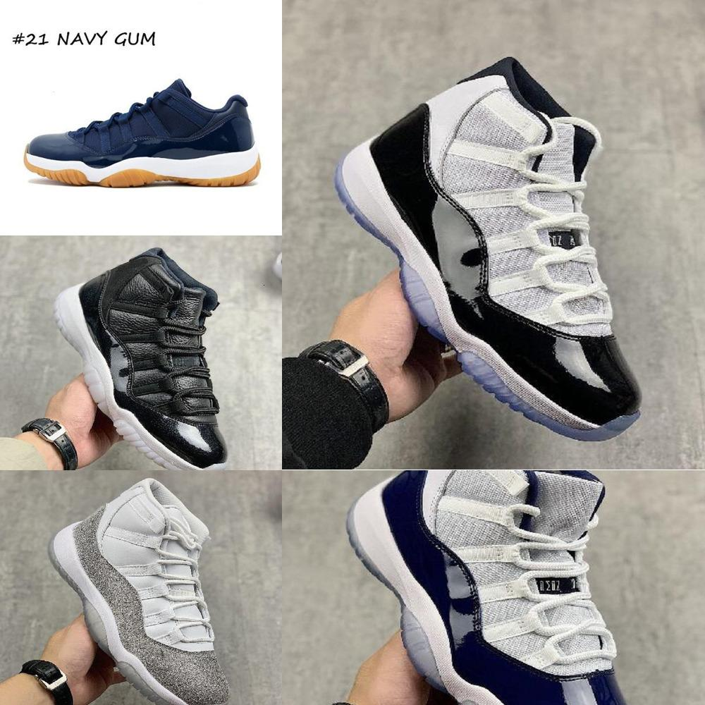 Hommes Basketball Chaussures Sneakers 11 11s Bred Concord Métallique Argent Orange Hommes Chaussures Femmes Anniverses Sport Nouvelle chaussure 15
