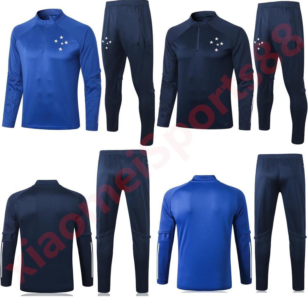2020 2021 Cruzeiro Esporte Club Club Coltry Tracksuit Giacca da calcio 20 21 Camisas de Futebol Lungo pull pull chiusura con cerniera