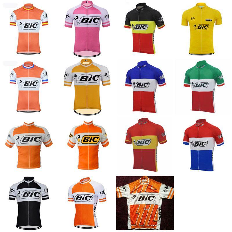 BIC Team PRO PRO Cycling Jersey Tops Mens Summer Cycling Abbigliamento Ropa Ciclismo Manica corta MTB Bici Bici Jersey Maillot Ciclismo 101904
