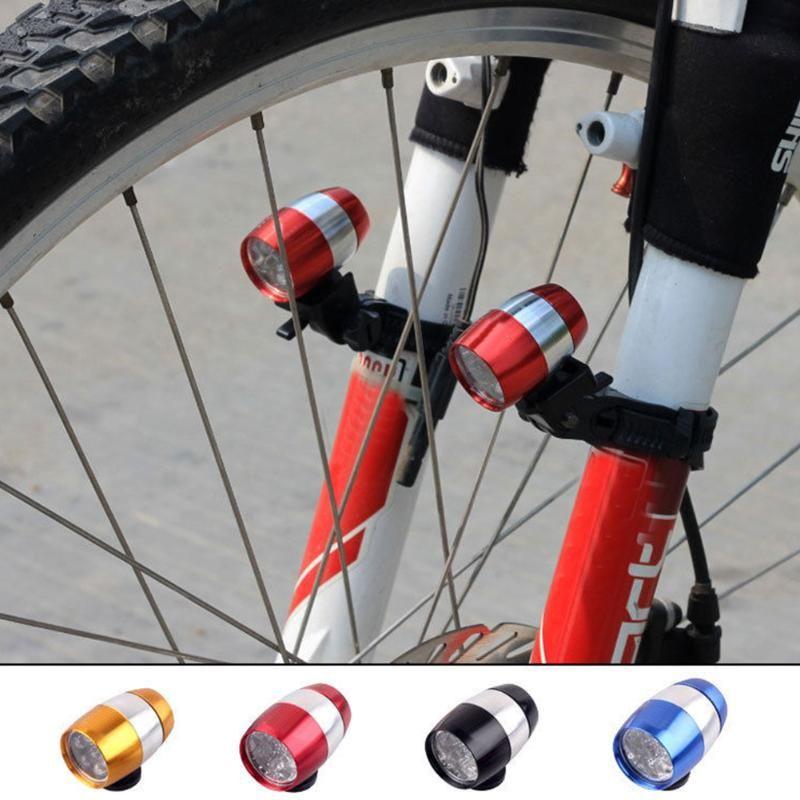 Bike Lights Bicycle Head Light 6 LED Mountain MTB Front Fork Handlebar Lantern Cycling Safety Warning Alloy Night Lamp