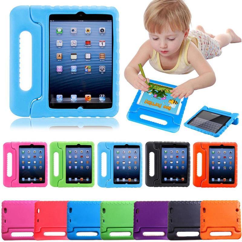 Дети дети ручки стенд EVA пена мягкая противоударный чехол таблетки силиконовый чехол для iPad mini 2 3 4 iPad Air iPad Pro Samsung Kindfire
