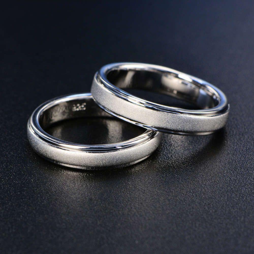 HBP Classic Simple Fashion's Ring с матовым и гладким лицом
